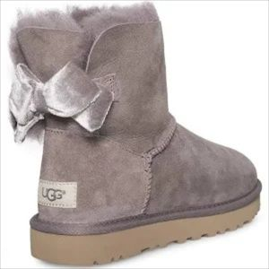 UGG Shoes - NIB UGG MINI BAILEY BOW II VELVET RIBBON  BOOT SZ8
